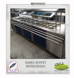 Barra buffet refrigerada