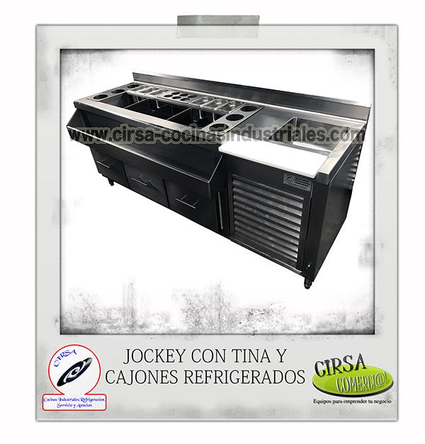 Jockey con tina y cajones refrigerados